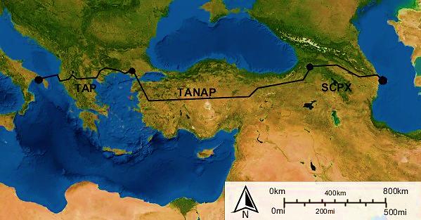 Carte géopolitique gaz eurasie