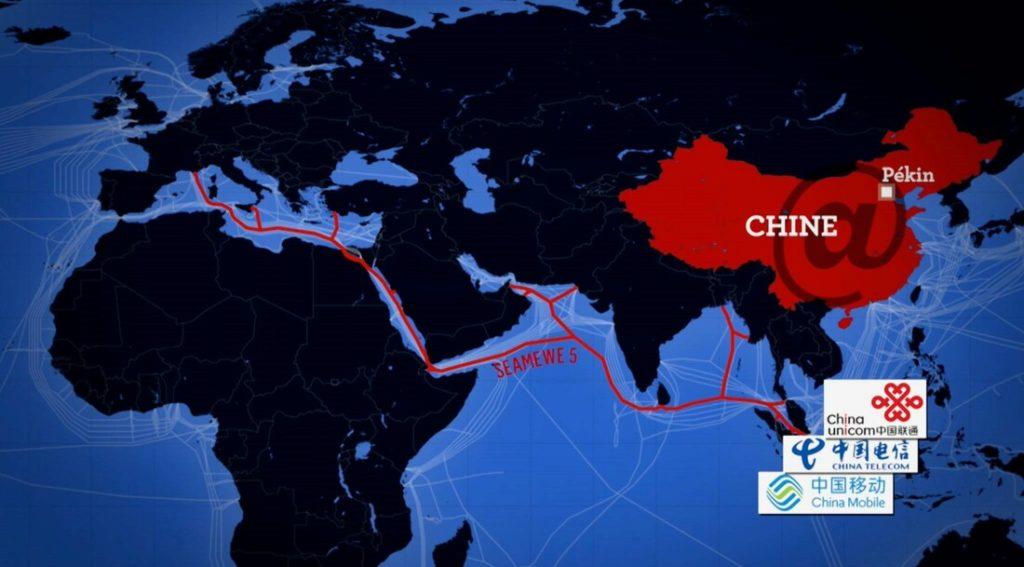 Câble sous marin et internet chinois