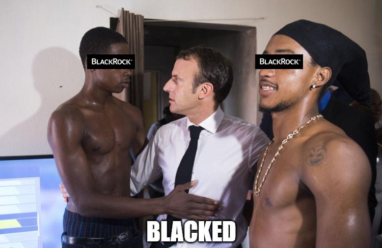 Macron et les noirs