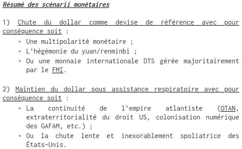 L'avenir de la monnaie : DTS ou cryptomonnaie