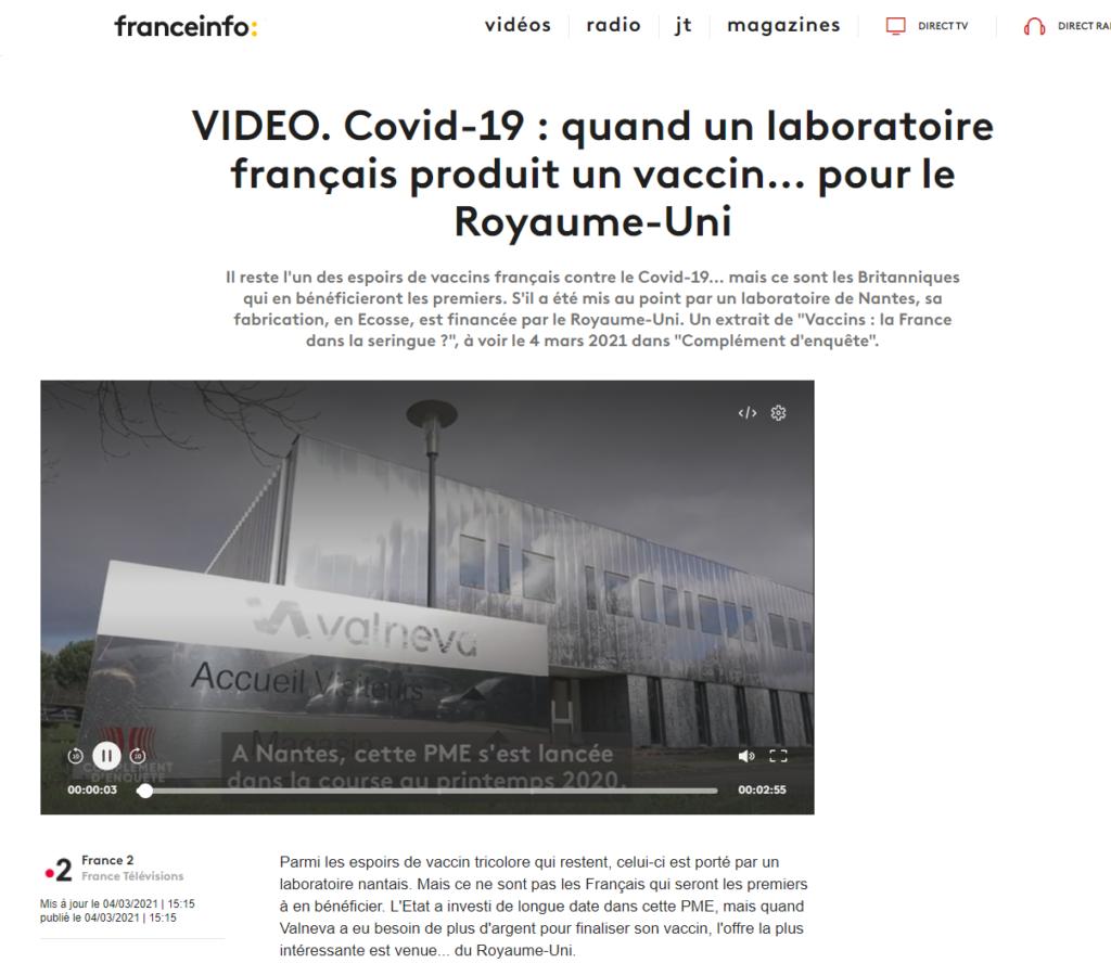 Covid-19 : quand un laboratoire français produit un vaccin... pour le Royaume-Uni