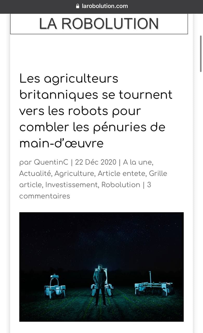 Les agriculteurs britanniques remplacent les migrants par des robots