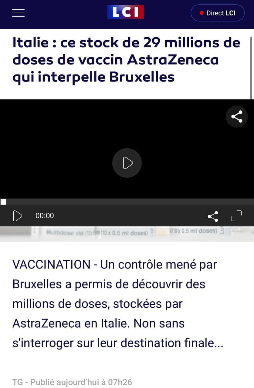AstraZeneca et les dangers des vaccins