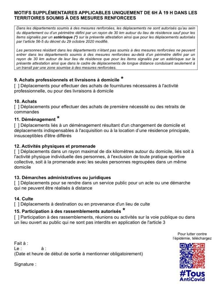 Justification sortie en France : dictature sanitaire