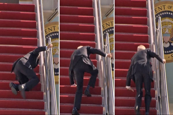 Biden chute tout comme l'occident