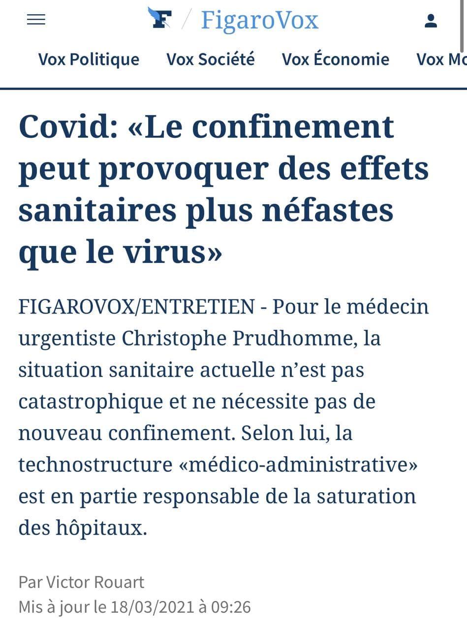 Le confinement est plus néfaste que le coronavirus