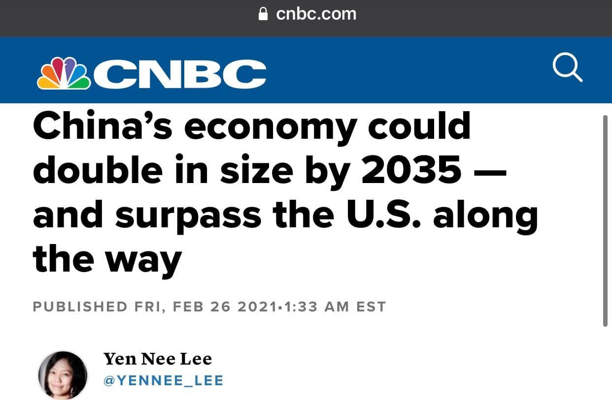 L'économie chinoise va dépasser celle des Etats-Unis