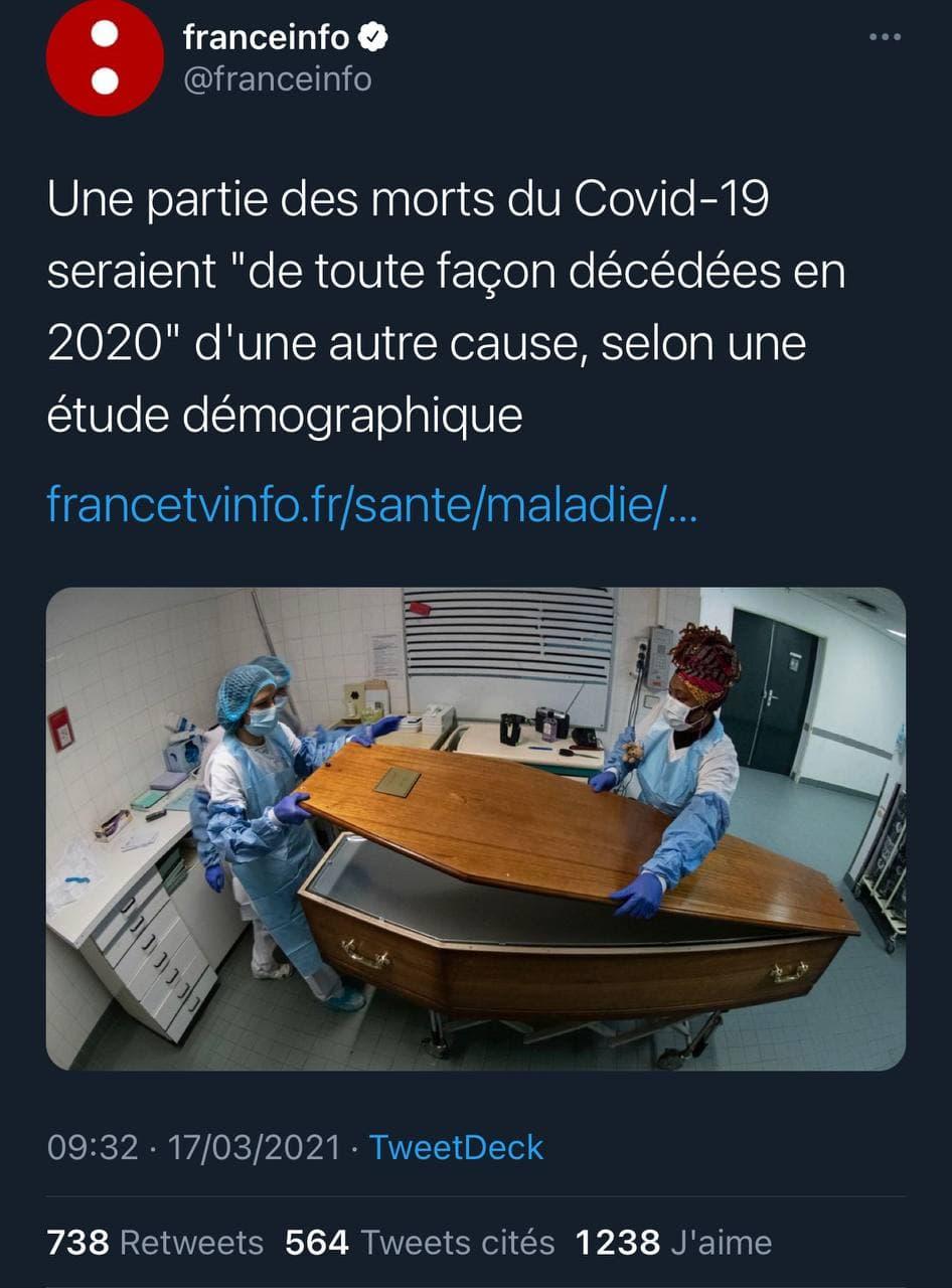Mortalité en France : le coronavirus n'y aurait rien changé