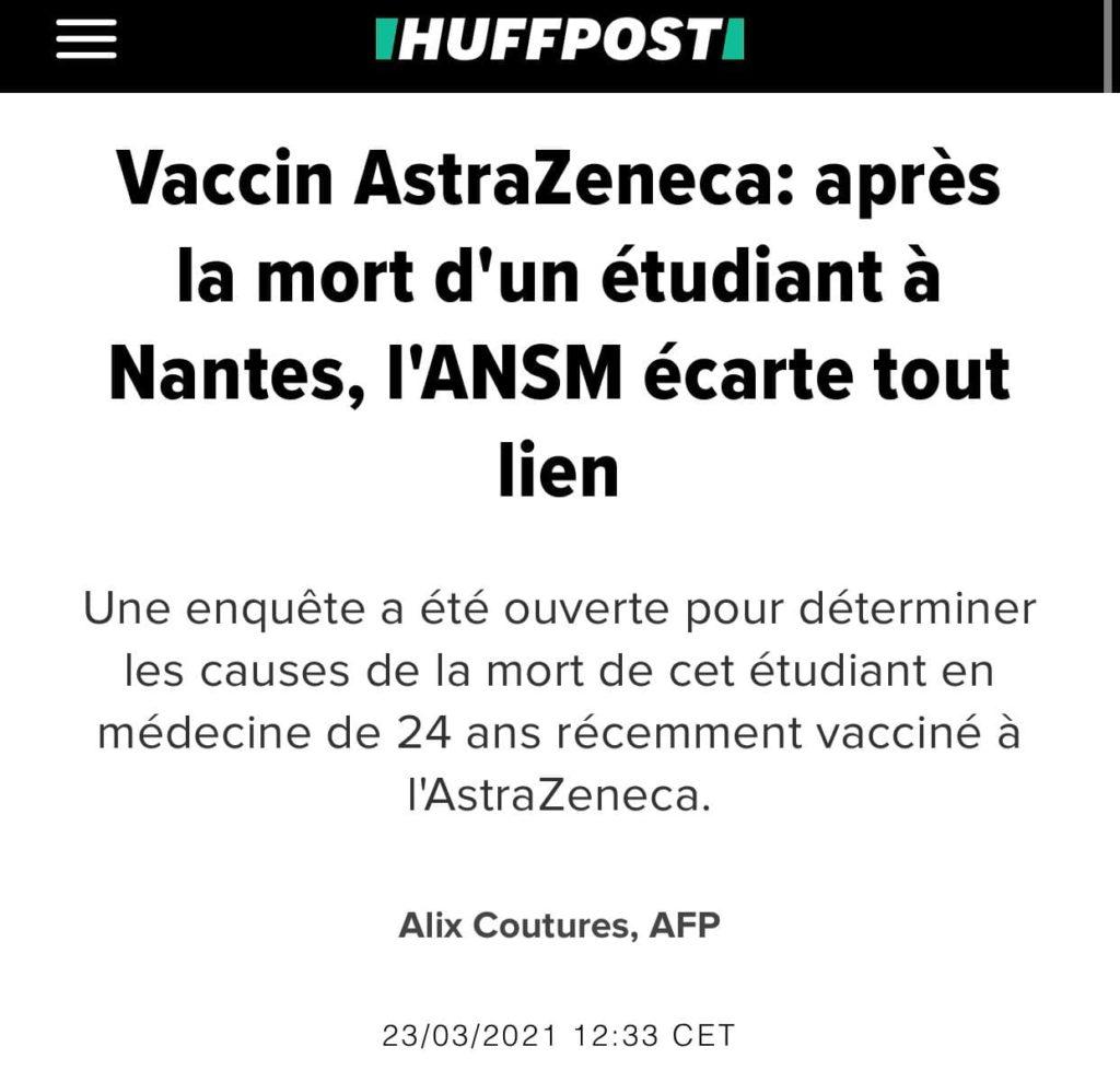 Vaccin AstraZeneca et mortalité