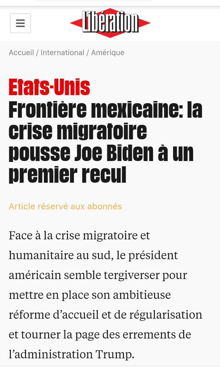 Joe Biden recule sur sa politique migratoire