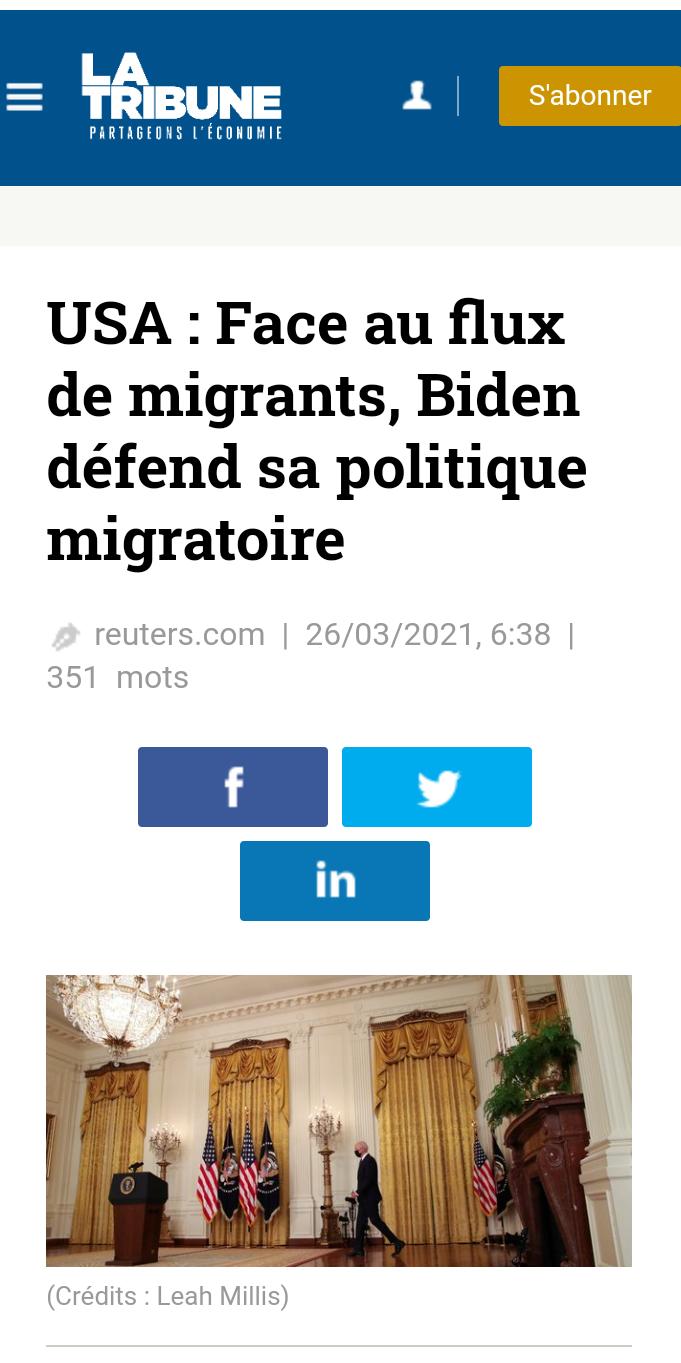 Joe Biden accueille les migrants malgré le flux