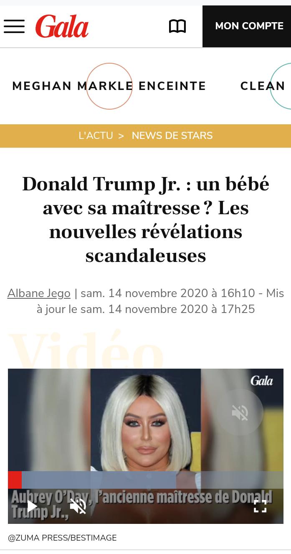 Donald Trump Jr a un bébé avec sa maîtresse ?