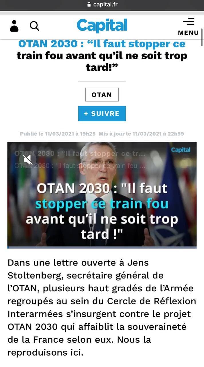 Scandale de l'OTAN pour la souveraineté de la France