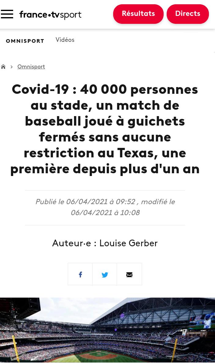 40 000 personnes sans restrictions assistent à un match de baseball