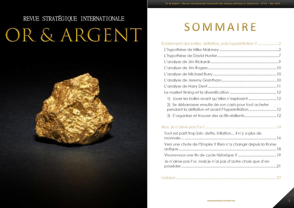 Revue or et argent mensuelle économie et finance