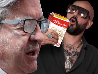 Mélenchon enfariné et Papacito