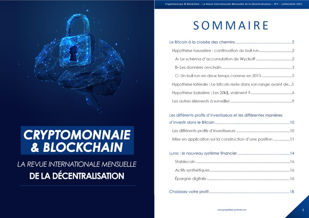 Revue cryptomonnaie et blockchain juillet et août 2021