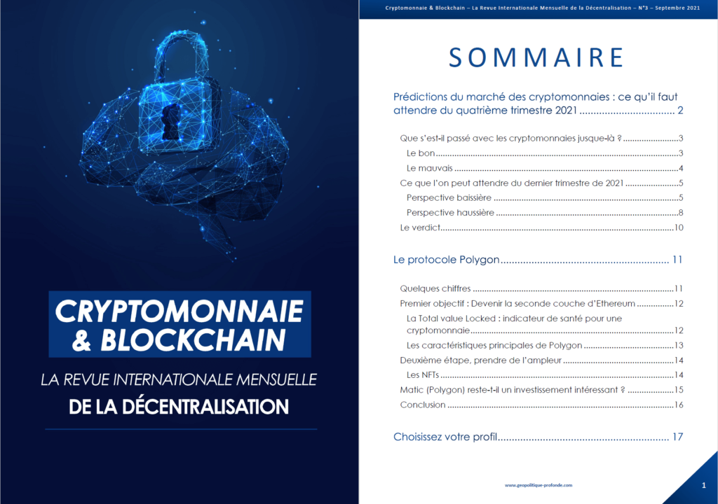 Cryptomonnaie & Blockchain revue mensuelle septembre 2021