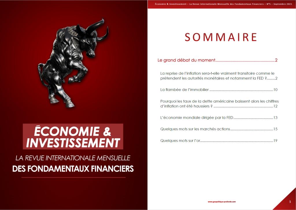 Revue économie et investissement septembre 2021